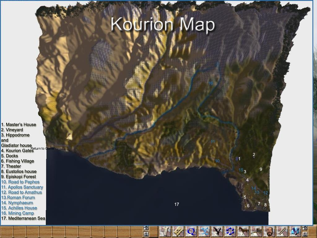 Kourion Map