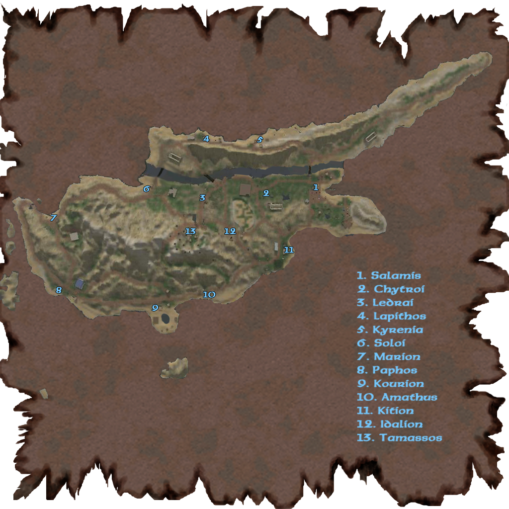 Visions Cyprus Map